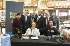 Sen. Vincent Hughes and Sen. Sharif Street at the ACA enrollment tour stop at the Shopright on Fox Street in Philadelphia, Nov. 16, 2017. James Robinson | Pennsylvania Senate Democratic Caucus
