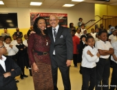 February 11, 2016: Senator Hughes visits Harambee Charter School to deliver a $346,000 21st Century Community Learning Centers grant to its wonderful CEO, Sandra Dungee Glenn.