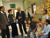 Senator Hughes visits Wissahickon Charter School :: January 27, 2012