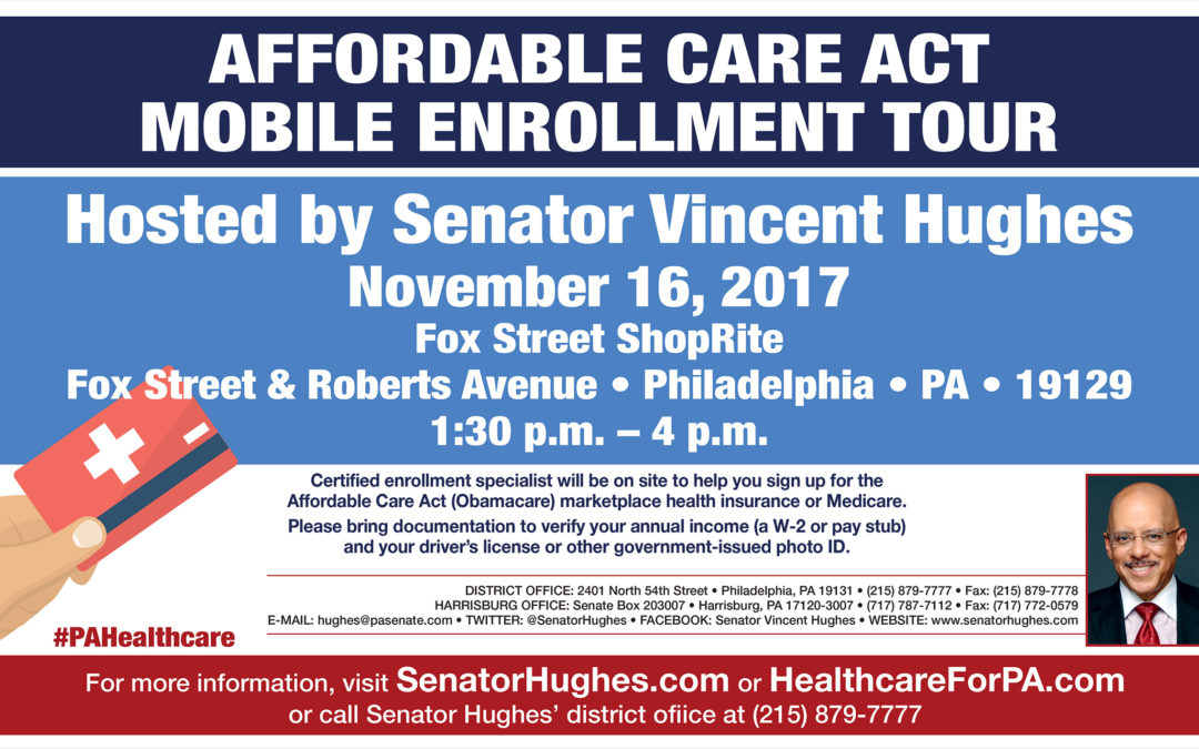 Senator Hughes Hosts ACA Mobile Enrollment Tour