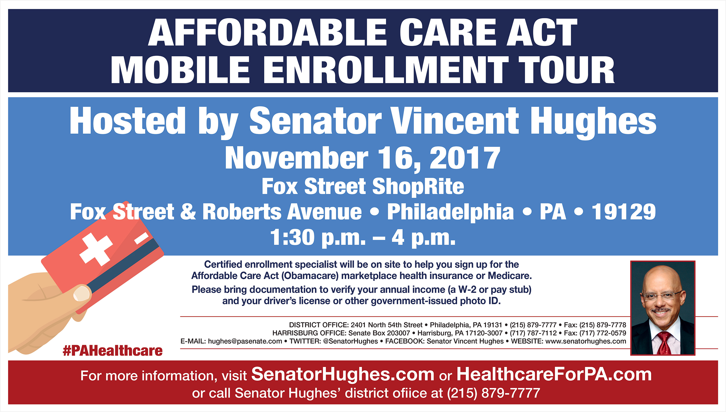 Sign up for affordable care act coverage this thursday senator sign up for affordable care act coverage this thursday senator vincent hughes 1betcityfo Image collections