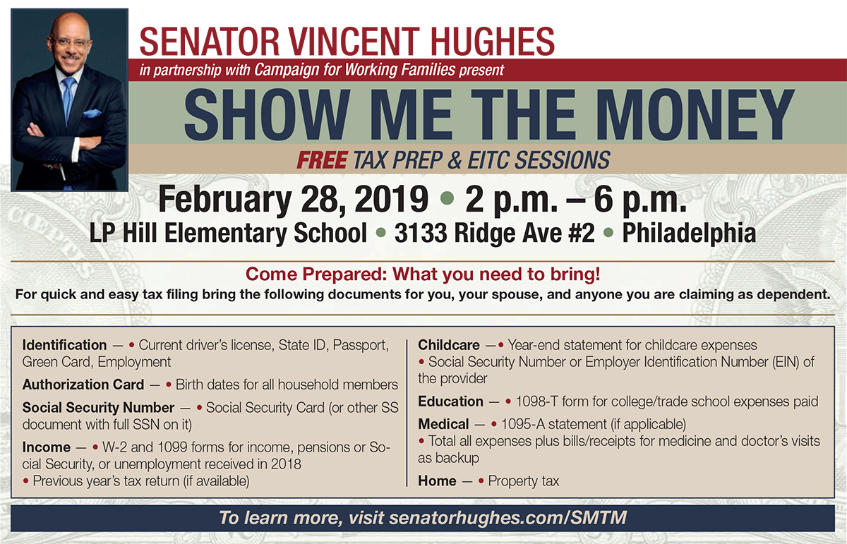 Tax Prep/EITC Information Session - Senator Vincent Hughes