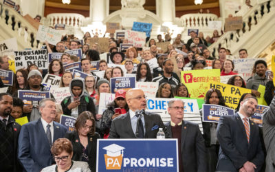 Senator Hughes stands with Reps. Harris, Roebuck; hundreds of PASSHE students in call for free college through the Pennsylvania Promise initiative