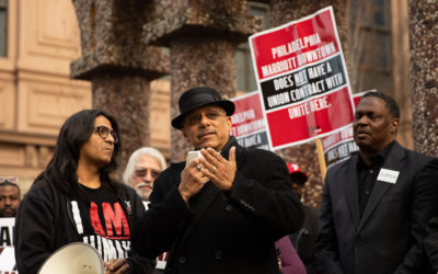 Sens. Hughes, Williams and POWER Interfaith support Marriott hotel workers in fight for fair, equitable working conditions
