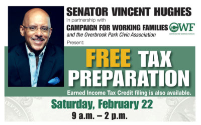 FREE tax preparation this Saturday with Senator Hughes!